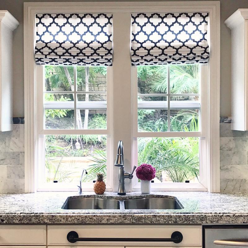 Flat Roman Shade Standard Fabric Windows By Melissa
