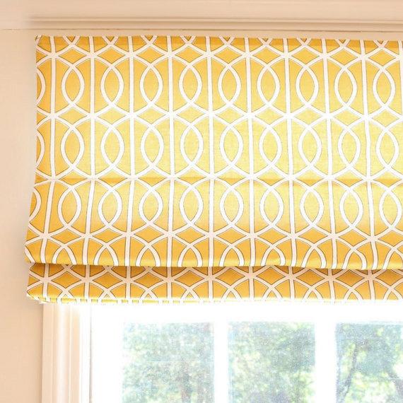 Flat Roman Shade Premium Fabric Windows By Melissa